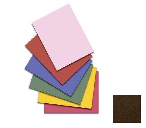Bazzill T9-917 12 in. x 12 in. Monochromatic Textured Cardstock - Chocolate