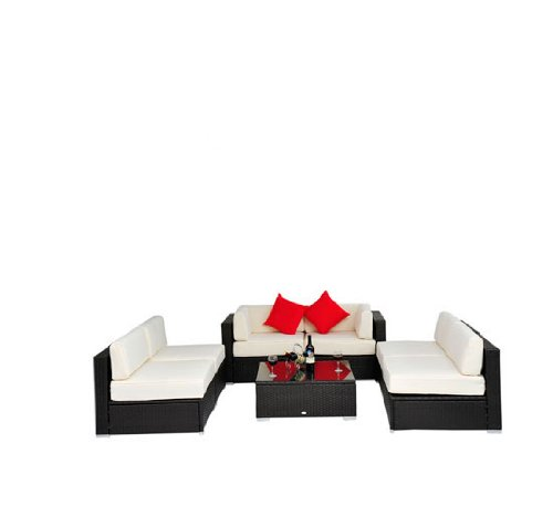 Patio PE Rattan Wicker 7 pc Sofa Sectional Furniture Set | Best Prices