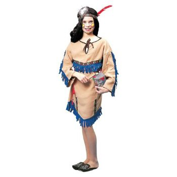 Native American Indian Princess Child Halloween Costume Size Small 4-6