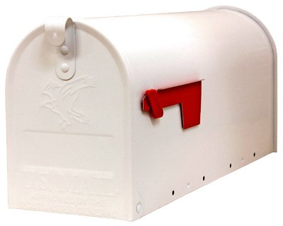 Solar-Group-E11600W00-Elite-Post-Mailbox-White-Galvanized-Large-1087-x-85-x-2025-In