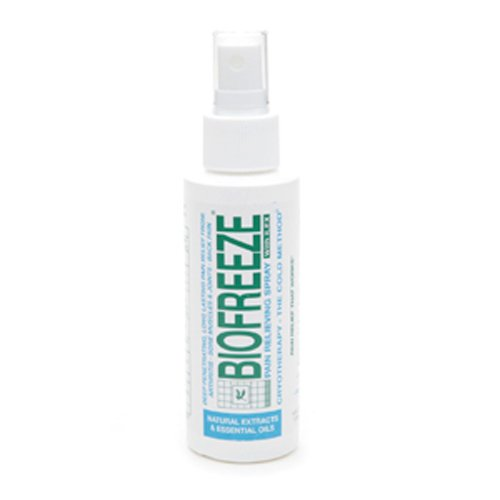 BIOFREEZE Pain Relieving Spray Gel, 4-Ounce Bottle