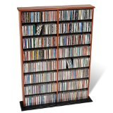 Cheapest Prices! Prepac Cherry Double Width Wall Media (DVD,CD,Games) Storage Rack
