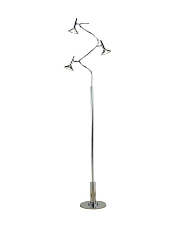 Adesso 5125-22 Radar Spiral Led Floor Lamp, Chrome