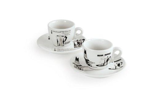 Bialetti carosello juego de tazas de caf con plato 6 for Juego tazas cafe
