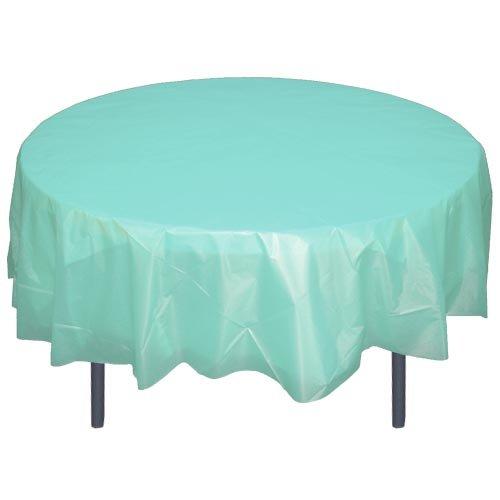 Aqua Blue Round Plastic Table Cover Furniture Outdoor Furniture Accessories Outdoor Furniture Covers