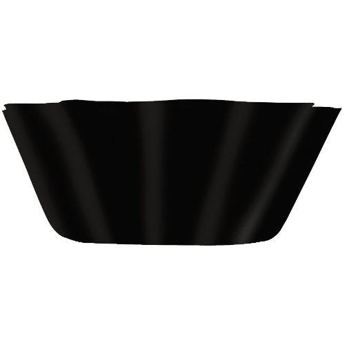 "Black 8"" Fluted Bowl"