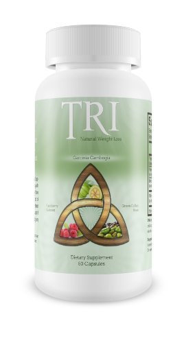 TRI Natural Weight Loss Supplement, Garcinia Cambogia, Raspberry Ketones and Green Coffee Bean Formula