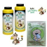 Anti Monkey Butt BABY Powder 6oz *2 Pack* and Tooth Tissue Sample - 1