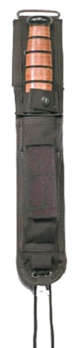 Rothco G.I. Type Enhanced Nylon Knife Sheath, Black