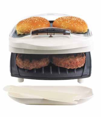 George foreman gr10abw champ grill with bun warmer white for George foreman grill fish