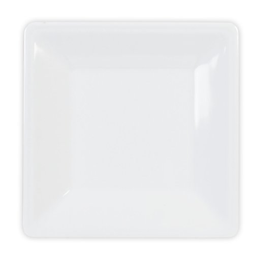 Global Goodwill 1-Piece Jazz Series Square Plate, 8-1/4 By 8-1/4-Inch, Jazz White