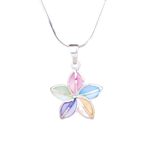 ANYA MOther of Pearl Flower Designed Pendant