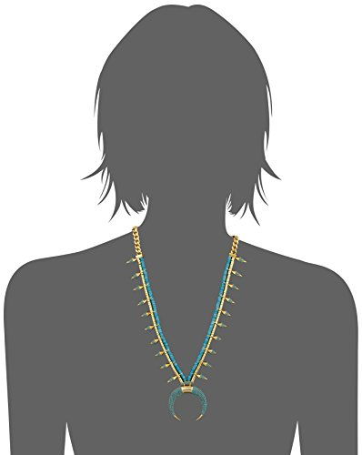 nOir Jewelry Gold Indigo Necklace