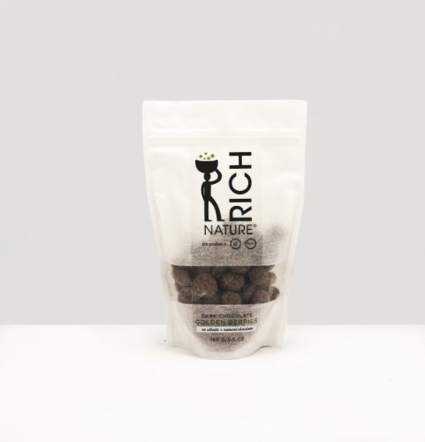 Dark Chocolate Golden Berries with Sea Salt (rice paper eco bag) 160g / 5.5 oz
