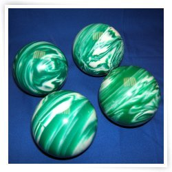 Premium Quality EPCO 4 Ball 107mm Tournament Bocce Set - Marbled Green/White ...