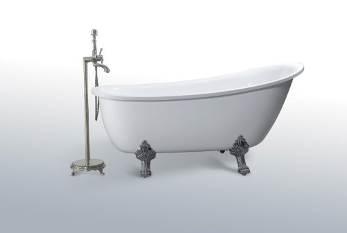 Modern Bathtub - Soaking Bathtub - Freestanding Bathtub - Taviano 65