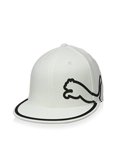 PUMA Men's Monoline 210 Flex-Fit Color-Block PUMA Logo Outline Flatbill Cap