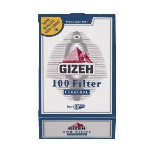 GIZEH (ギゼ) チャコールフィルター レギュラーサイズ(直径8mm) 手巻きタバコ用 100個入り