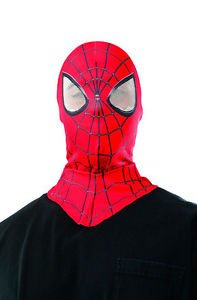 [Adult Marvel Superhero Movie The Amazing Spiderman 2 Costume Hood Overhead Mask] (Jeepers Creepers 2 Costume)