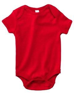 Bella + Canvas B100 Infants Baby Rib One-Piece - White - 6-12M B100