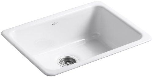 KOHLER K-6585-0 Iron/Tones Self-Rimming Undercounter Kitchen Sink, White (Kohler Iron Tones compare prices)