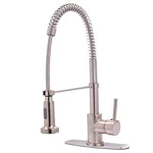 Kingston brass gs8888dl concord single handle pull down for Kitchen faucet recommendations