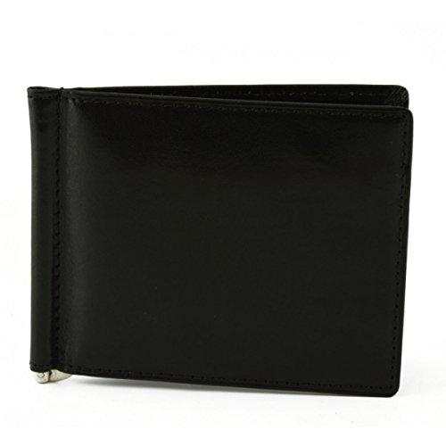 Portafogli In Pelle Con Clip Banconote Colore Nero - Pelletteria Toscana Made In Italy - Accessori