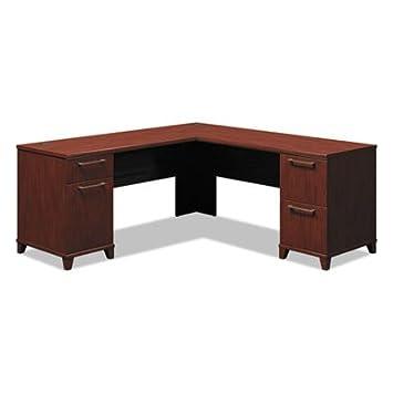 Enterprise Collection 72W x 72D L-Desk, Harvest Cherry (Box 1 of 2), Sold as 1 Each