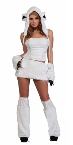 Sexy Polar Bear Adult Costume Size:Xtra Small/Small