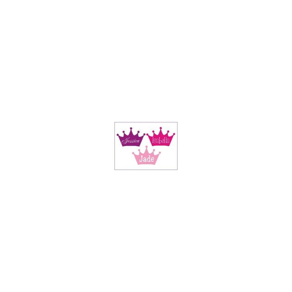 Girls Princess Crown Name Insert Wall Decal Automotive