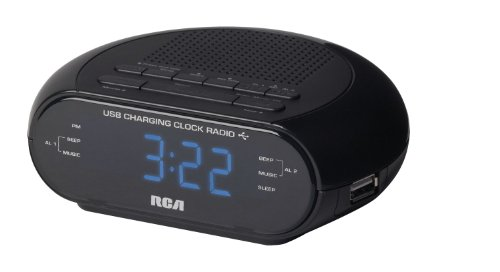 RCA RC207 USB Charging Clock Radio