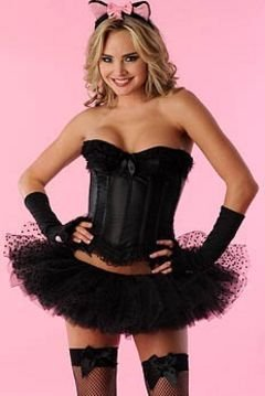 Velvet Kitten Kitty Costume in Black