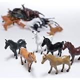 Plastic Horses - 12 Piece set