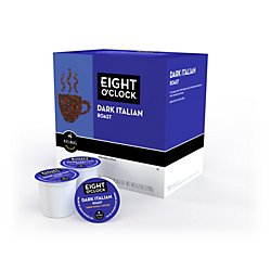 Eight O'clock(R) Italian Roast Coffee K-Cups(R), 0.4 Oz., Box Of 18