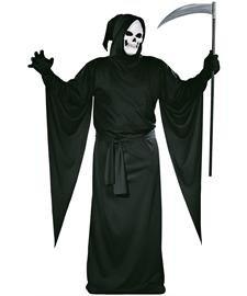 FunWorld Grim Reaper Robe, Black, One Size Costume
