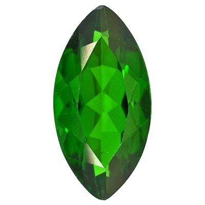 0.10 Cts of 4x2 mm AA Marquise Chrome Diopside