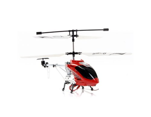 BR6108 3 Channels Metal Alloy Remote Control Coaxial Helicopter (Red) + Worldwide free shiping