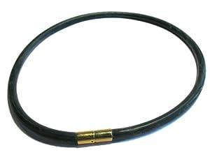 wunsch-lounge 1 Stück Halskette Choker 6mm / Bajonett - Schließe , Kautschuk