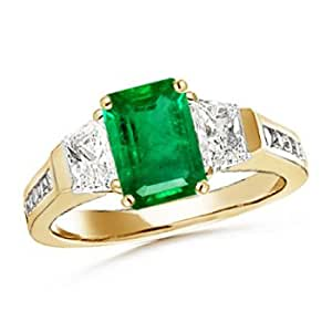three emerald ring emerald solitaire