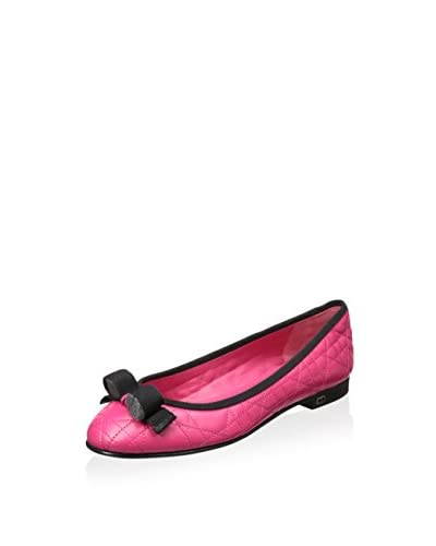 Christian Dior Women's Quilted Flat with Bow