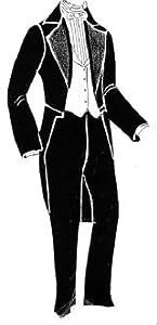 1860's Men's Tailcoat, Waistcoat & Trousers Pattern