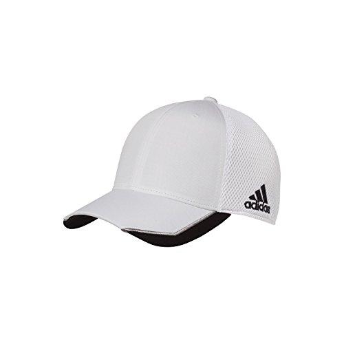 eaa7c5dbbcf Adidas Unisex Sports Cresting Baseball Cap (S M) (White Black)