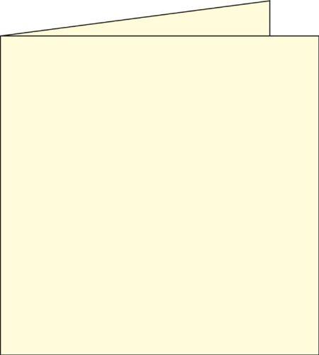 Paquet de 25 cartes POLLEN format 160x160 mm coloris ivoire référence 1117.