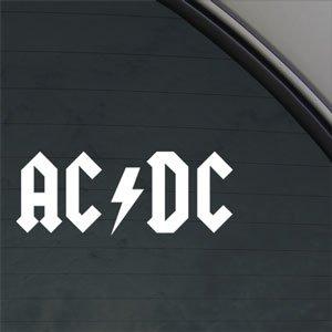Adesivo per finestrino del gruppo rock AC/DC, per auto e camion