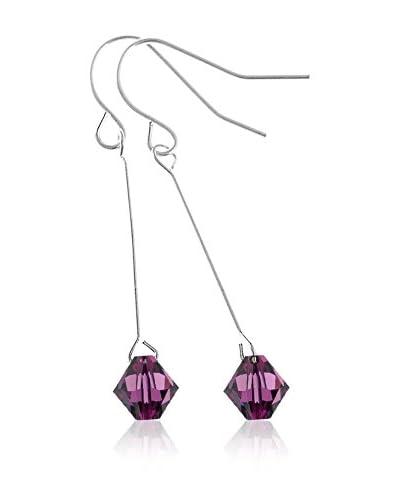 So Charm with Crystals from Swarovski Pendientes  Morado
