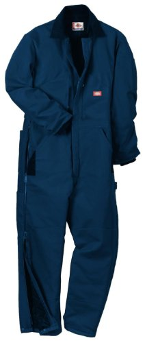 Dickies Men's Premium Insulated Duck Coverall, Dark Navy, Large/Short
