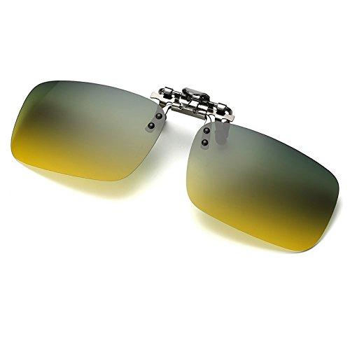 Cyxus lenti polarizzate occhiali da sole clip-on prescrizione Occhiali Protezione UV [] guida/Pesca Outdoor Occhiali, di giorno e di notte con