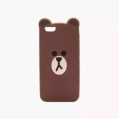 Apple iPhone 6/6s Case Silicone Back Covers With Card Slot Inside Drop Resistant Cute Lovely Chic for Teen Girls Kids Women (Plain Brown Bear) (Iphone 6 Case Bear compare prices)
