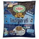 SUPER INSTANT COFFEE MIXED LOW SUGAR 15G. PACK 25SACHETS (Gloria Jeans Whole Bean Coffee compare prices)