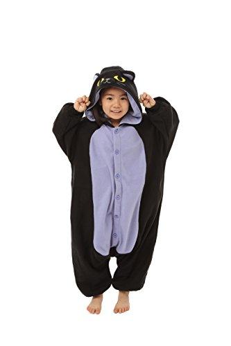 Spooky Black Cat Kids Kigurumi (2-5 Years) front-389141